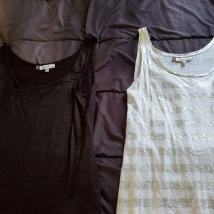 women XL tanks JLO with shimmer